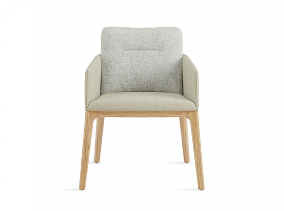 GUEST CHAIR WITH WOOD BASE