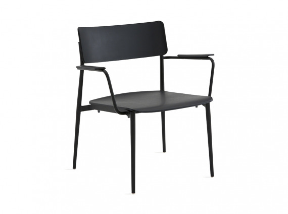all black simple lounge chair