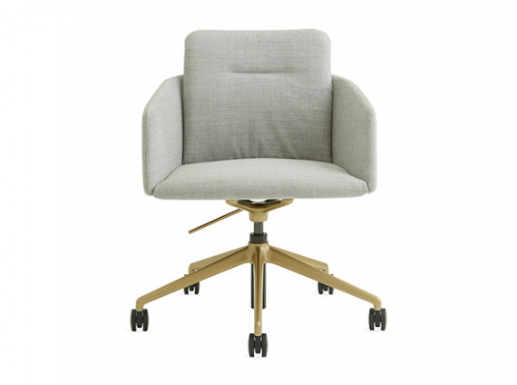 conference chair with metal legs