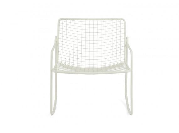 White Coalesse EMU Rio Rocking Lounge Chair on white background