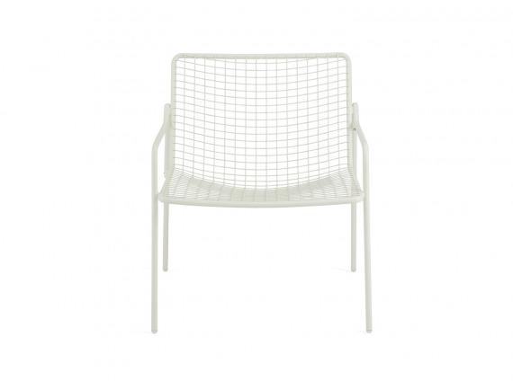 White Coalesse EMU Rio Lounge Chair on white background