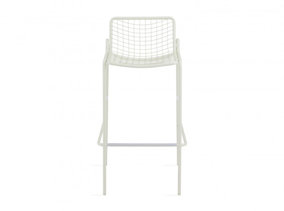 White Coalesse EMU Rio Barstool on white background