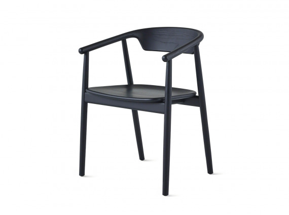 Black Mattiazzi Leva Armchair on white background