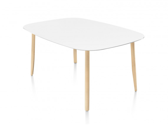 White Mattiazzi Branca Table on white background