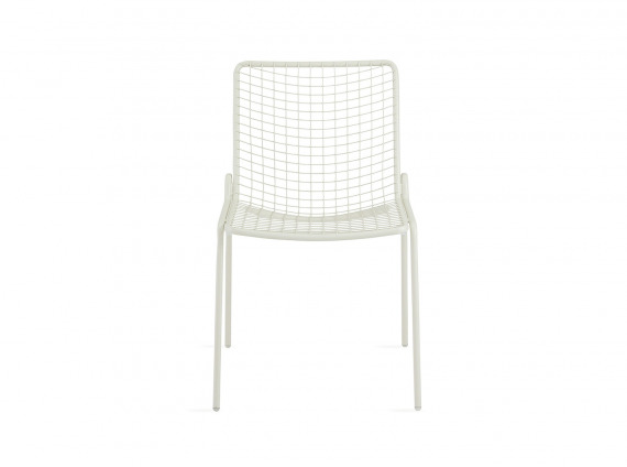White Coalesse EMU Rio Armless Chair on white background