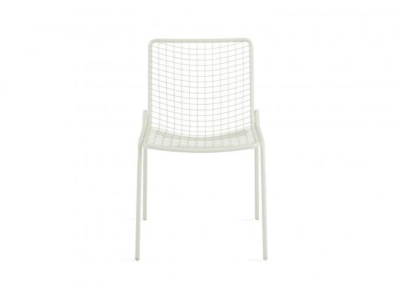 White Coalesse EMU Rio Armless Chair on white background