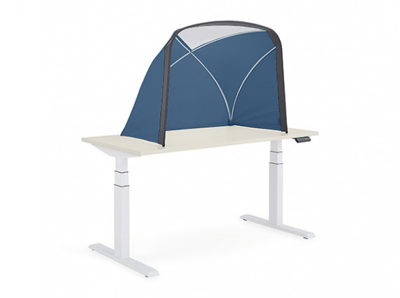 blue table tent