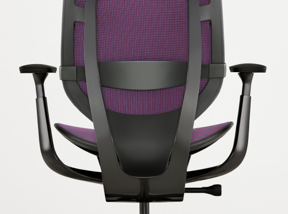 Back view of a Steelcase Karman chair