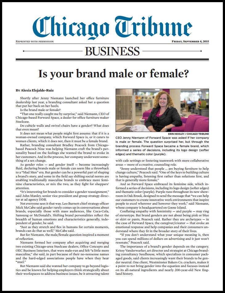 Chicago Tribune Brand Article