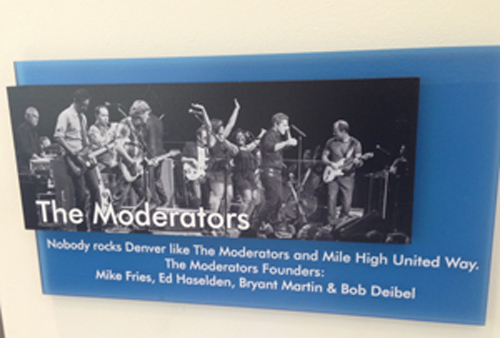 Moderators Plaque at Mile High United Way