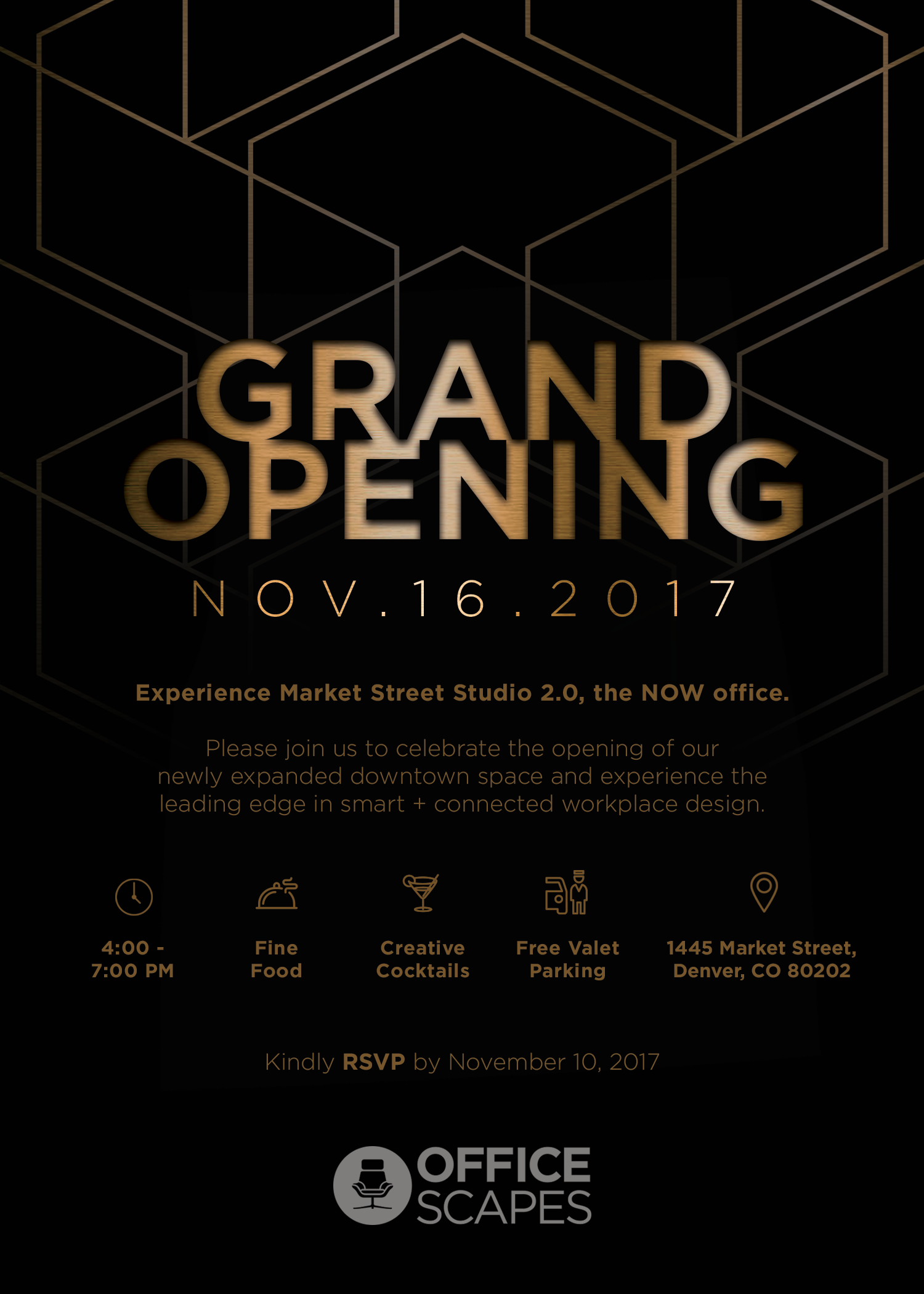 Join us on November 16 from 4-7 p.m. for our Market Street Studio 2.0 Grand Opening.
