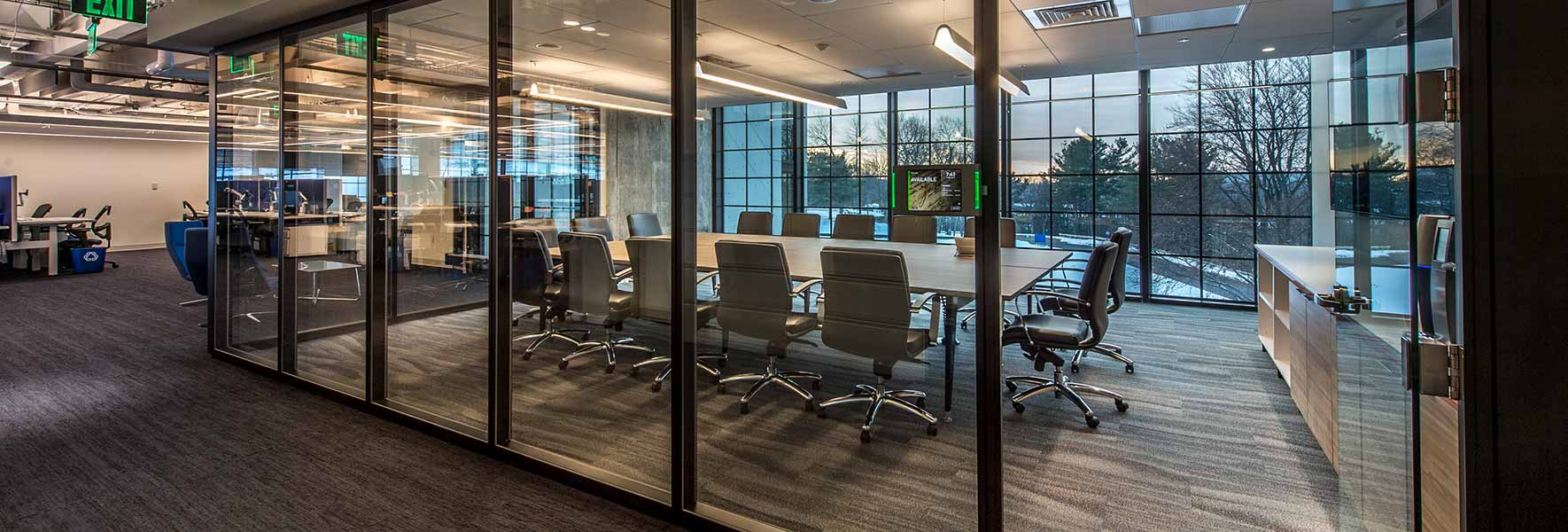 conference room built with demountable walls