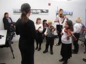 violin Suzuki Stringers young violin students