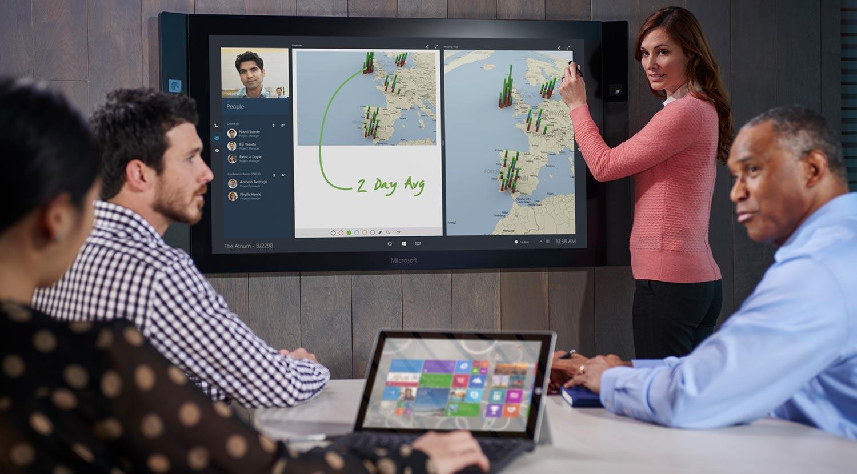 Microsoft Surface Hub collaborative technology