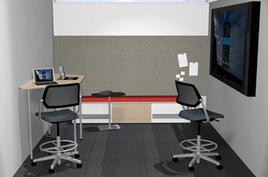 collaborative space demountable walls
