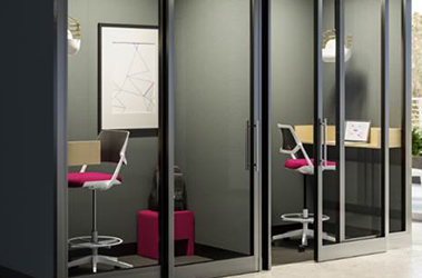 private space movable walls phone booth