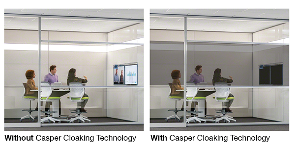 Casper Cloaking Technology blacks out content on LED screens