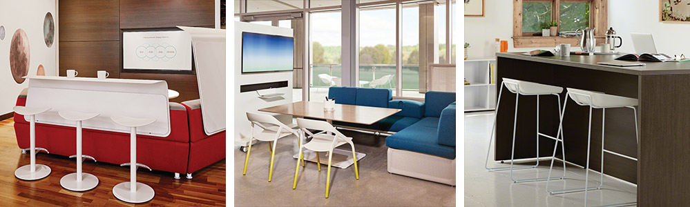 ancillary furniture used in collaborative spaces