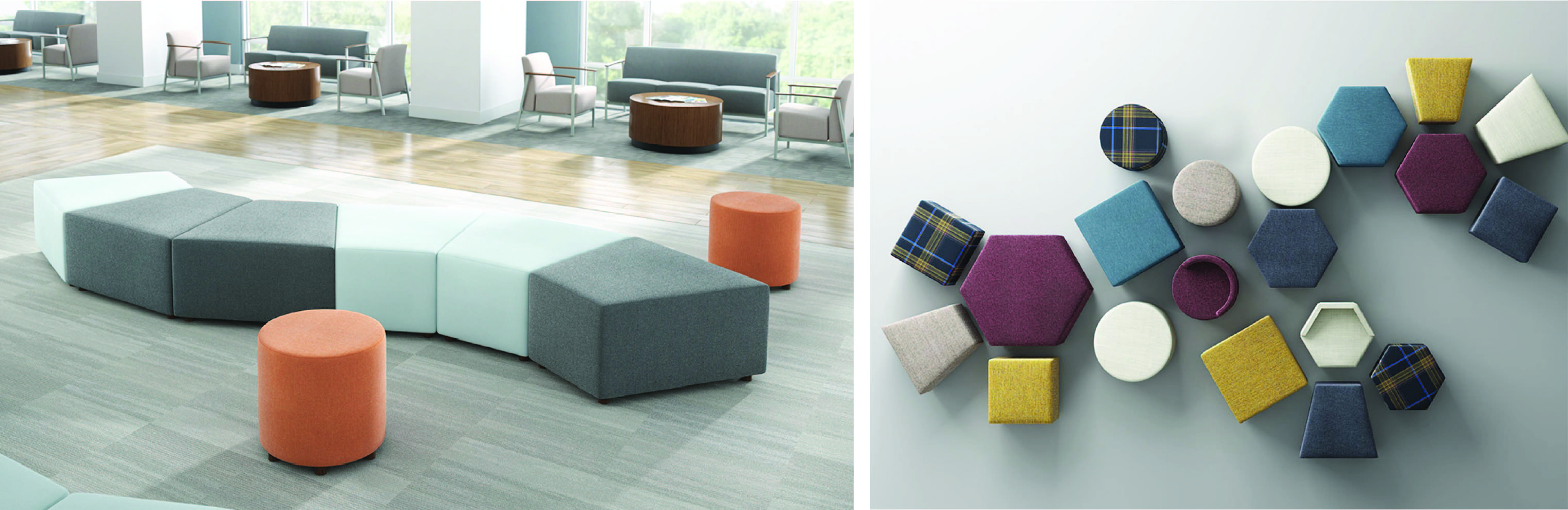 Ancillary Furniture - Boost+ Ottomans by Carolina