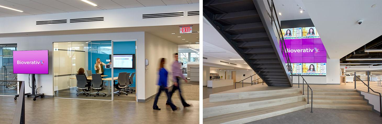 Bioverativ video wall company culture