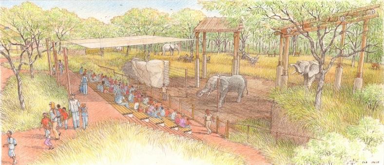 elephant demo area rendering