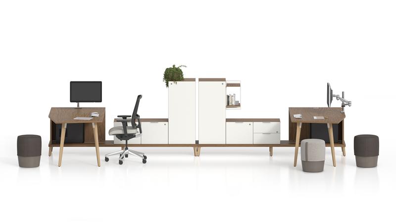 stad dual workstation collaboration area