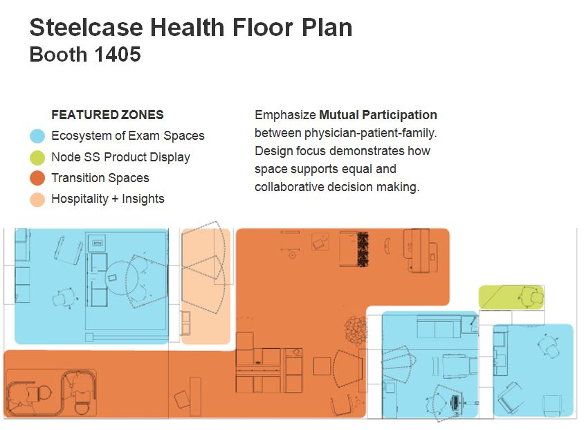 Steelcase Health Booth Floorplan